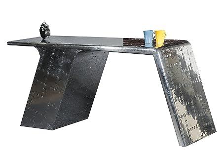 SIT-Möbel 1707-21 Schreibtisch Airman, 3 offene Fächer mit Zierschrauben versehen, circa 150 x 60 x 75 cm