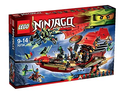 Lego Ninjago - Playthèmes - 70738 - Jeu De Construction - L'ultime Qg Des Ninjas