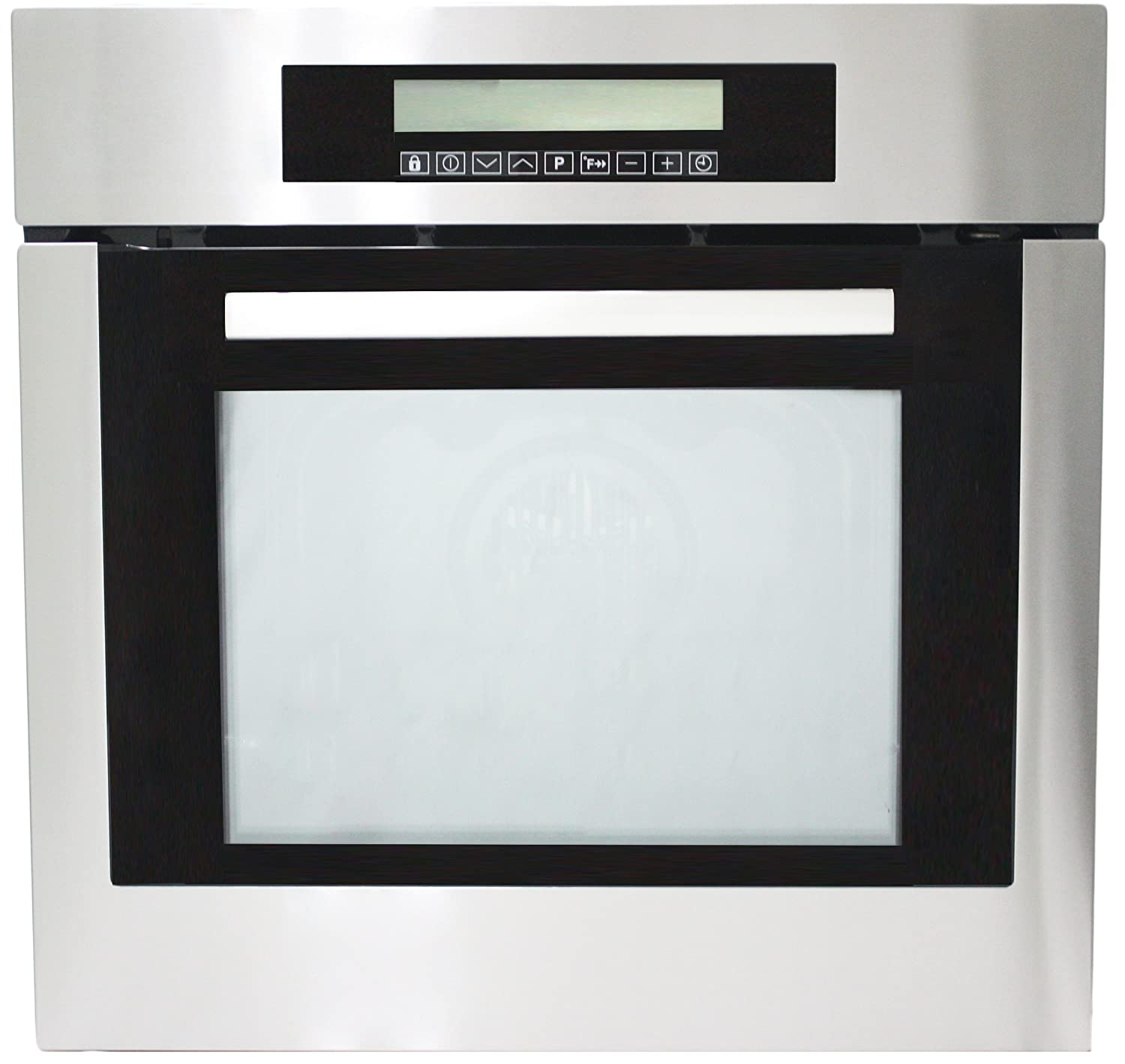 "Cosmo 24"" Stainless Steel Electric Wall Oven with 10-functions"