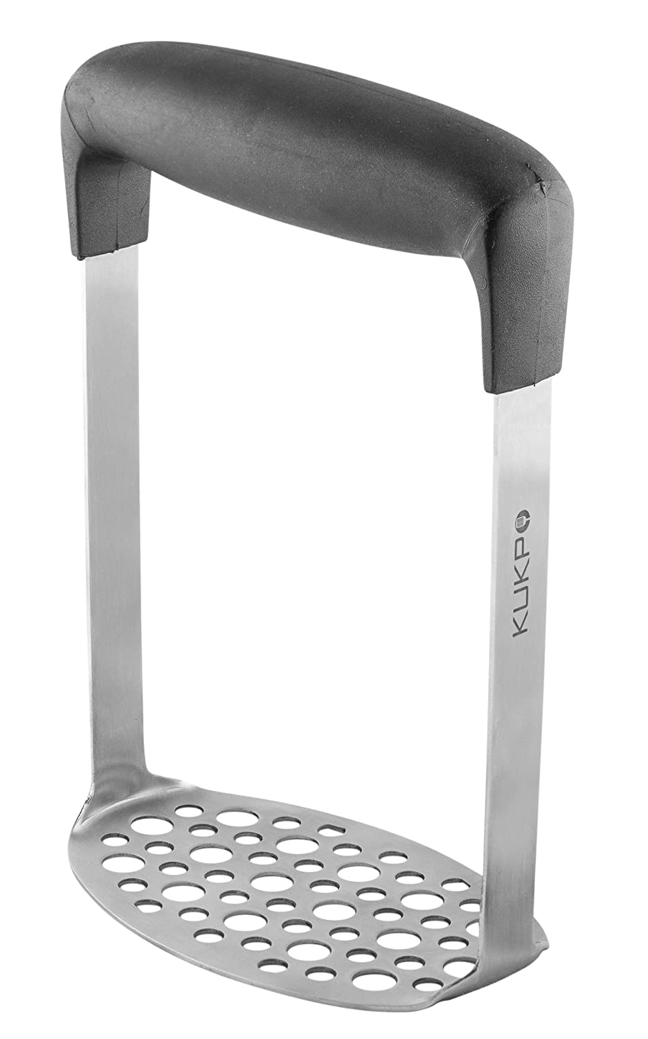 KUKPO High-quality Stainless Steel Potato Masher with Broad and Ergonomic Horizontal Handle