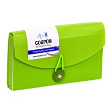 Paris Business Products DocIt Coupon File, Color May Vary, (00875)