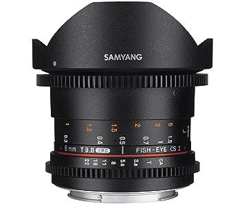 Samyang Objectif Fisheye pour Sony E 8 mm T3.8 VDSLR II Noir