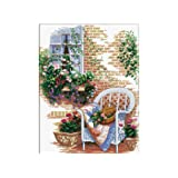 TINMI ATRS DIY Stamped Cross Stitch Kits Thread Needlework Embroidery Printed Pattern 11CT Home Decoration Cozy Afternoon 130010 16x19 inch