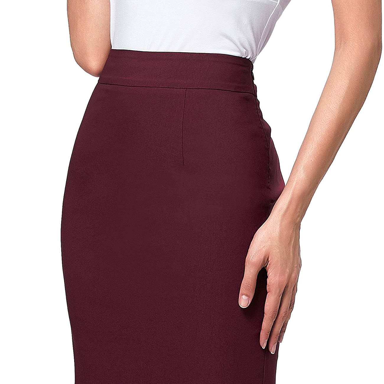 Kate Kasin Womens Wear to Work Stretchy Pencil Skirts 5
