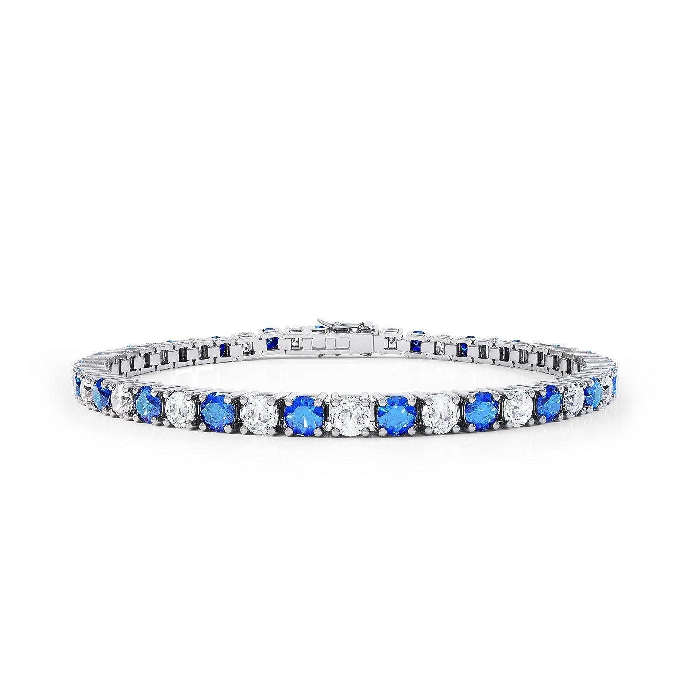 Stardust Saphir und Diamant Damen-Armband – Silber – Weißgold als Geschenk