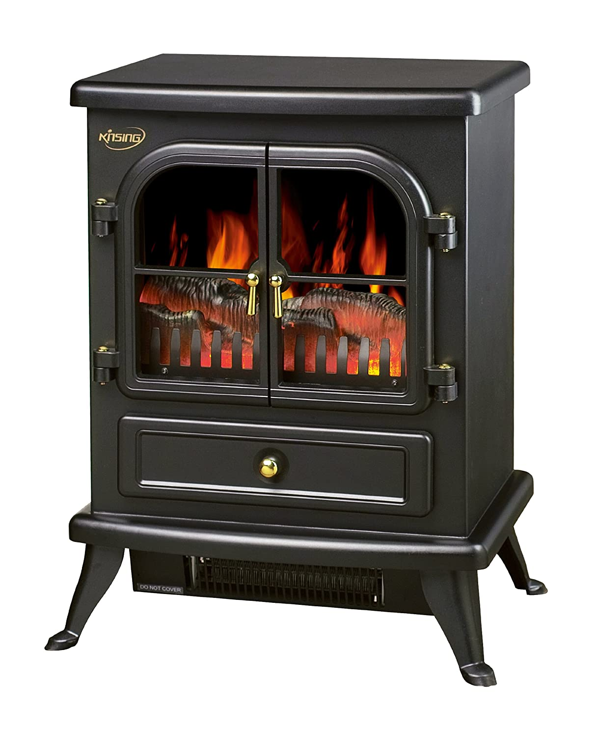 Fire Heater Fireplace Stove Cast Iron Log Burning Flame Effect 1850w Electric Ebay