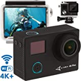 ZEUS Premium 4K Action Camera - Best Live Action Camera - New 2018-16MP Sony Sensor 1080p - Sports Camera Kit - Mini Action Cam - Sport Waterproof Action Camera Case w/Remote Control+2 Battery (Color: Premium, Tamaño: Premium)