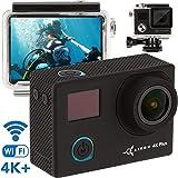 ZEUS Premium 4K Action Camera - Best Live Action Camera - New 2018-16MP Sony Sensor 1080p - Sports Camera Kit - Mini Action Cam - Sport Waterproof Action Camera Case w/Remote Control+2 Battery (Color: Premium, Tamaño: Premium)