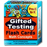 Gifted Testing Flash Cards – Math Concepts for Pre-K – Kindergarten – Educational Practice for CogAT Test, OLSAT Test, ITBS, NYC Gifted and Talented, WISC, WPPSI