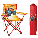 Nickelodeon Blaze & The Monster Machines Fold N' Go Chair with Storage Bag, Red (Color: Red)