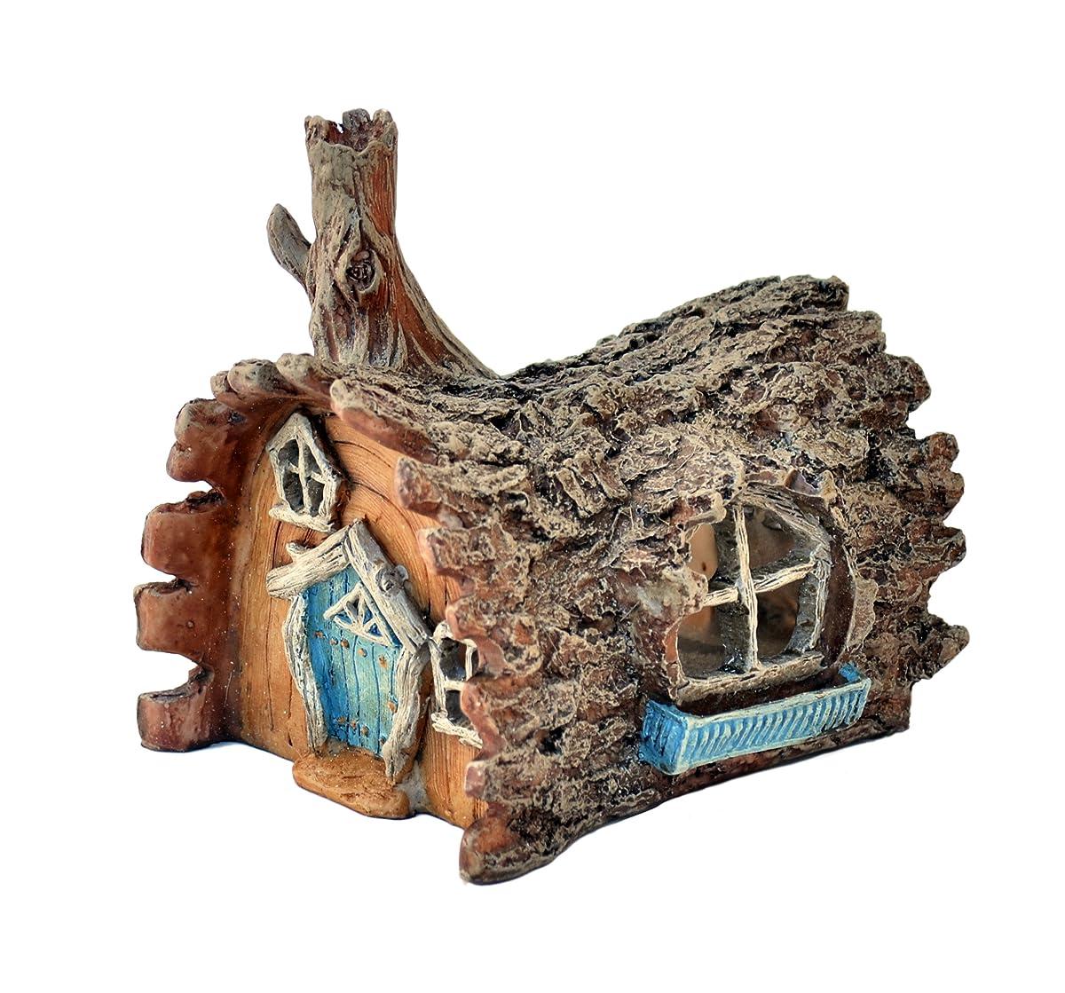 Fiddlehead Fairy Garden Log Home with Swinging Door