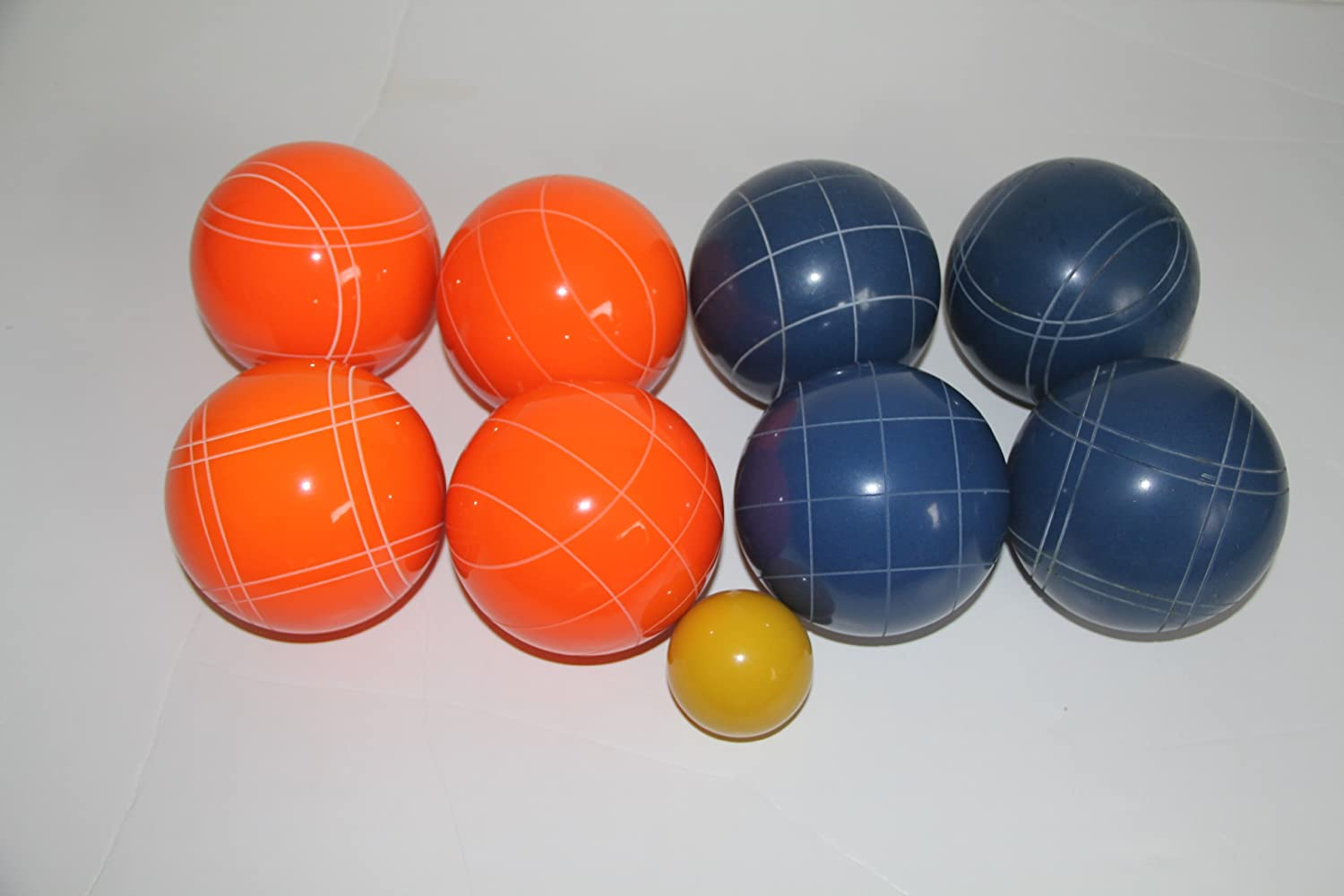 Premium Quality EPCO Tournament Bocce Set - 107mm Blue and Orange Bocce Balls...
