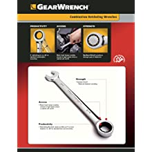 GearWrench 9416 16 Piece Metric Master Ratcheting Wrench Set