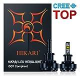 HIKARI LED Headlight Bulbs Conversion Kit -H3,CREE 9600lm 6K Cool White,2 Yr Warranty