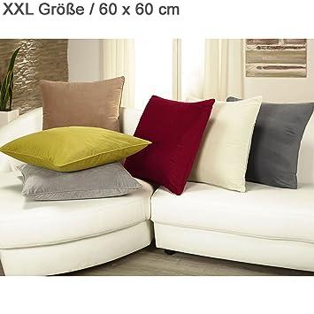 xxl samt kuschel kissen velvet mit rv u herausnehmbarer f llung 60x60 cm deko zier. Black Bedroom Furniture Sets. Home Design Ideas