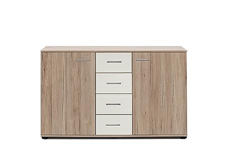 Wimex K21704 Kommode, Holz, columbia nussbaum nachbildung / absätze prosecco farbig, 41 x 130 x 83 cm