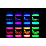 Midnight Glo UV Paint Acrylic Black Light Reactive Bright Neon Colors Set of 8 Bottles Great for Crafts, Art & DIY Projects, Blacklight Party(0.75 oz) (Tamaño: 0.75 oz)