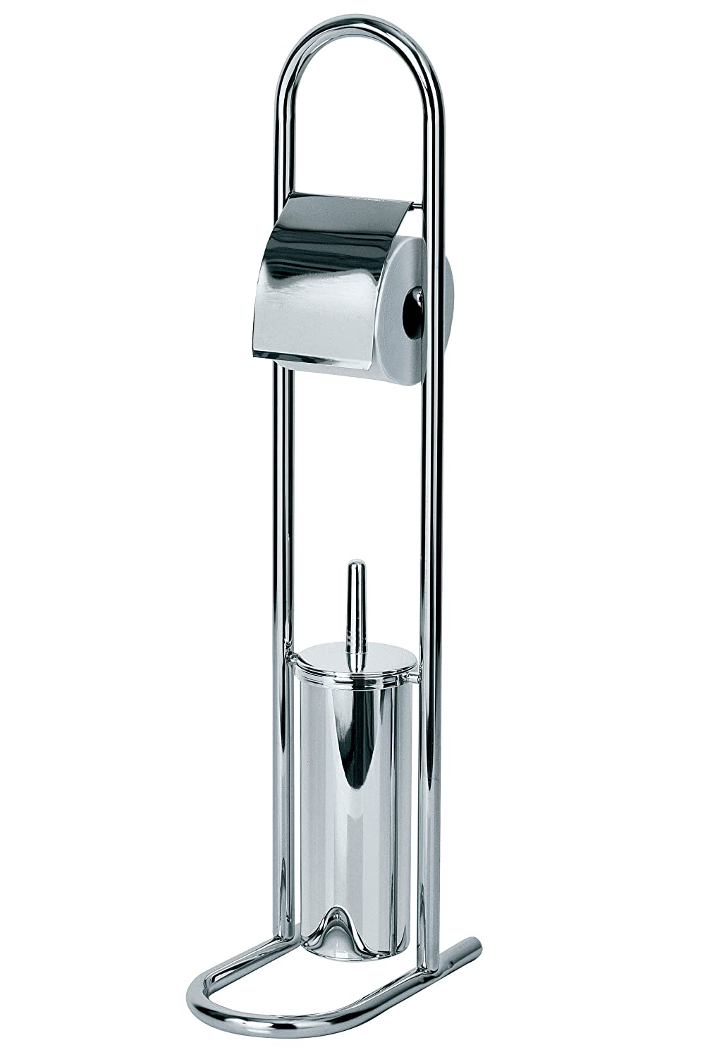 New Free Standing Stainless Steel Toilet Brush Holder With
