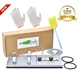 Glass Bottle Cutter Bundle | Fully Adjustable Bottle Cutting Tool for Wine, Beer, Whiskey, Champagne, Water Or Soda Bottles | DIY Cutting Machine for Fun Garden Projects, Lamps, Vases & More (Color: white)