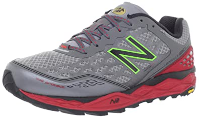 New Balance Men's MT1210 NBX Trail Running Shoe,Grey/Red,12 2E US