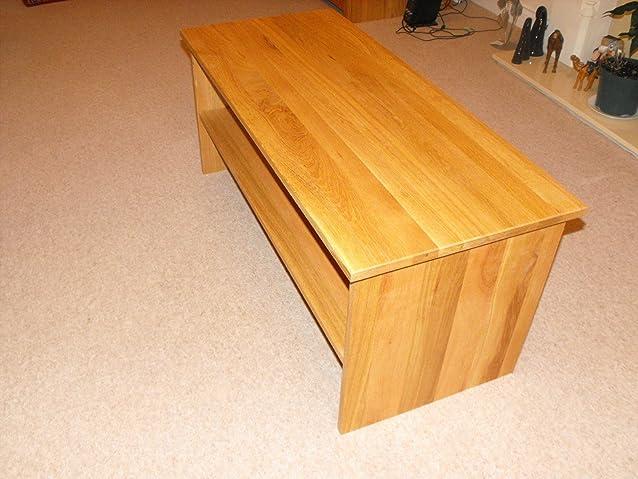 Solido fine tavolino con ripiano, 1200x 450MM, ideale per il soggiorno o veranda