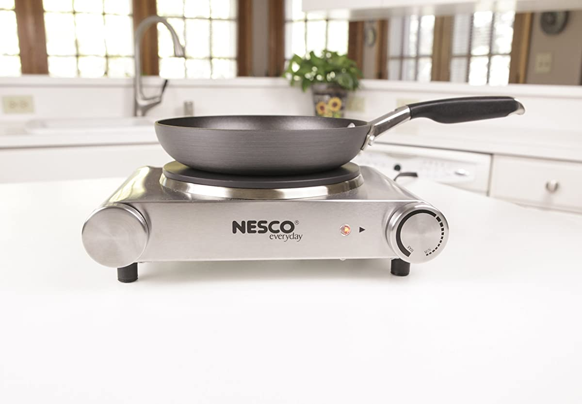 Nesco SB-01 Stainless Steel Electric Burner, 1500-watt