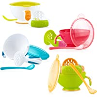 Nuby Garden Fresh Mash N' Feed Bowl with Spoon and Food Masher