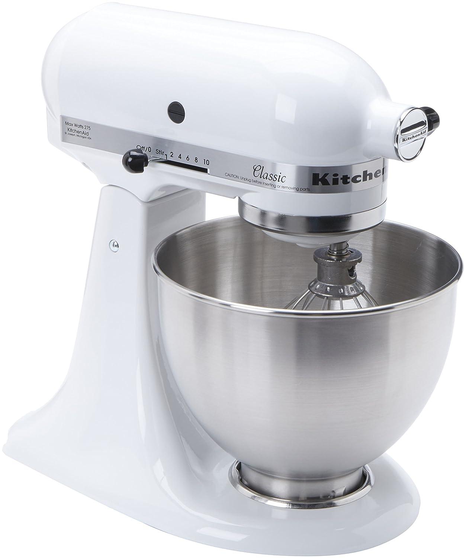 Awesome KitchenAid K45SSWH K45SS Classic 275-Watt 4-1/2-Quart Stand Mixer, White