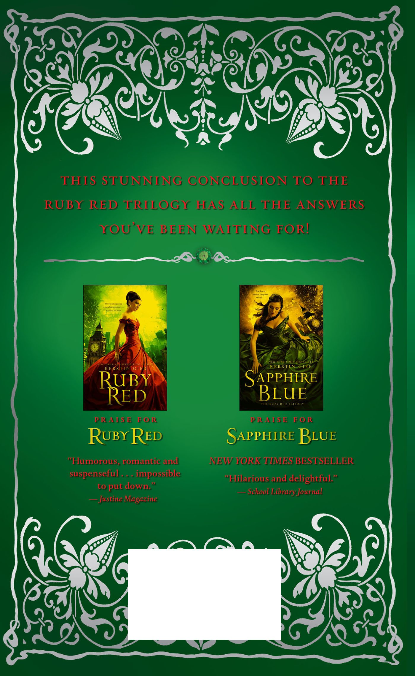 Buy Emerald Green (the Ruby Red Trilogy) Book Online At Low Prices In India   Emerald Green (the Ruby Red Trilogy) Reviews & Ratings  Amazon