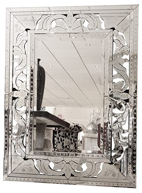Febland Bold Venetian Wall Mirror, Mirrored, Large
