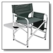 Aluminum Director Chair w/ Folding Tray and Cup Holder