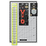 ARTEZA Rotary Cutter Quilting Kit, Set of 4 (2.5X18 Ruler, 12X18 Mat, 45mm Cutter, 45mm Blades 3 pack) (Tamaño: 8