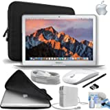 Apple MacBook Air 13.3? Laptop Bundle - Mid 2017 (128GB SSD + Wireless Mouse) (Color: White Wireless Mouse, Tamaño: 128GB SSD)
