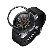 BaiHui Compatible Galaxy Watch Bezel Ring 46mm / Galaxy Gear S3 Frontier & Classic Bezel Ring,Stainless Steel Bezel Ring Protection Cover for Galaxy Watch Accessory (06-Black) (Color: 06-Black)