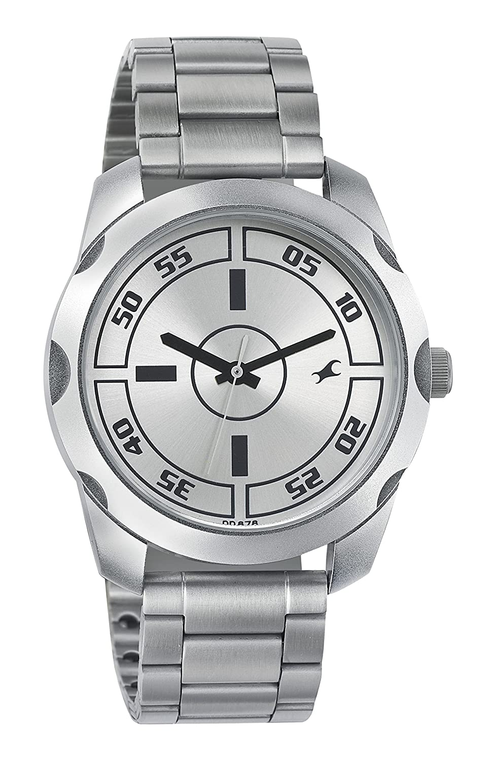 fastrack watches buy fastrack watches for men women online at fastrack casual analog silver dial men s watch 3123sm02