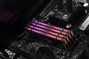 HyperX Predator DDR4 RGB 16GB kit 4000MHz CL17 DIMM XMP RAM Memory/Infrared Sync Technology Black (HX440C19PB3AK2/16) (Tamaño: 16GB Kit (2 x 8GB))