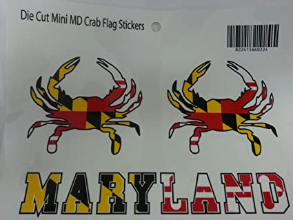 Maryland Flag Crab Decal Maryland Flag Crab Sticker 2