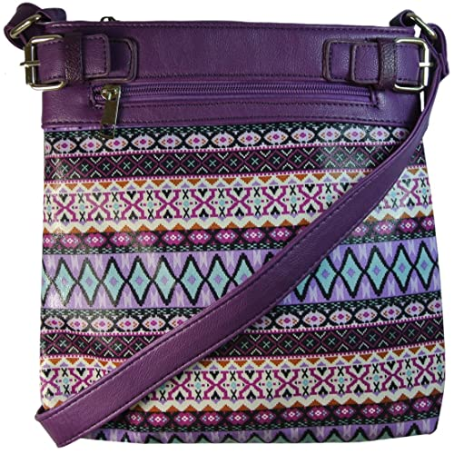 Concealed Carry Cross Body Bag Aztec Print Purse Messenger Handbag