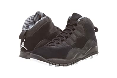 NIKE JORDAN 10 RETRO MENS 310805-003 (8.5, BLACK/WHITE-STEALTH