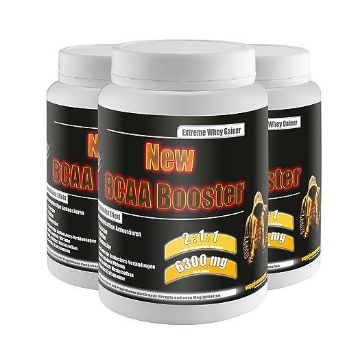 New BCAA Booster! 3x454g BCAA Amino Aminsäuren anabol Testosteron Fettabbau Anabolika Diät Muskelaufbau Nahrungsergänzung Geschmack Multifrucht