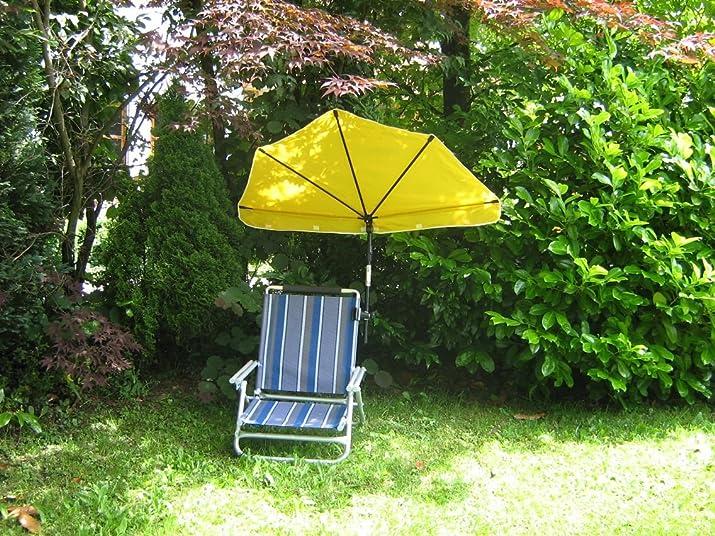 Sole protezione–STABIELO–esclusivo Set–sedia da spiaggia con paralume Holly 'sun ® scomparti rosso–in alluminio con 360° universalgelenkh proiettore–25