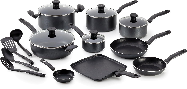 t fal initiatives nonstick inside out oven and dishwasher safe cookware sets ebay. Black Bedroom Furniture Sets. Home Design Ideas