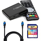 Micca Speck G2 1080p Full HD Ultra Portable Media Player Bundle with Elite 16GB Class 10 SDHC UHS-1 Memory Card and Blucoil 8-Ft HDMI Cable (Tamaño: Speck G2 Bundle)