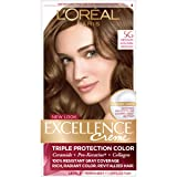 L'Oreal Paris Excellence Creme Hair Color, Medium Golden Brown (3 Count) (Color: Medium Golden Brown, Tamaño: 3 Count)