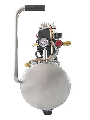 California Air Tools 8010 Ultra Quiet & Oil-Free 1.0 hp Steel Tank Air Compressor, 8 gal, Silver (Color: Silver, Tamaño: 8 gal)