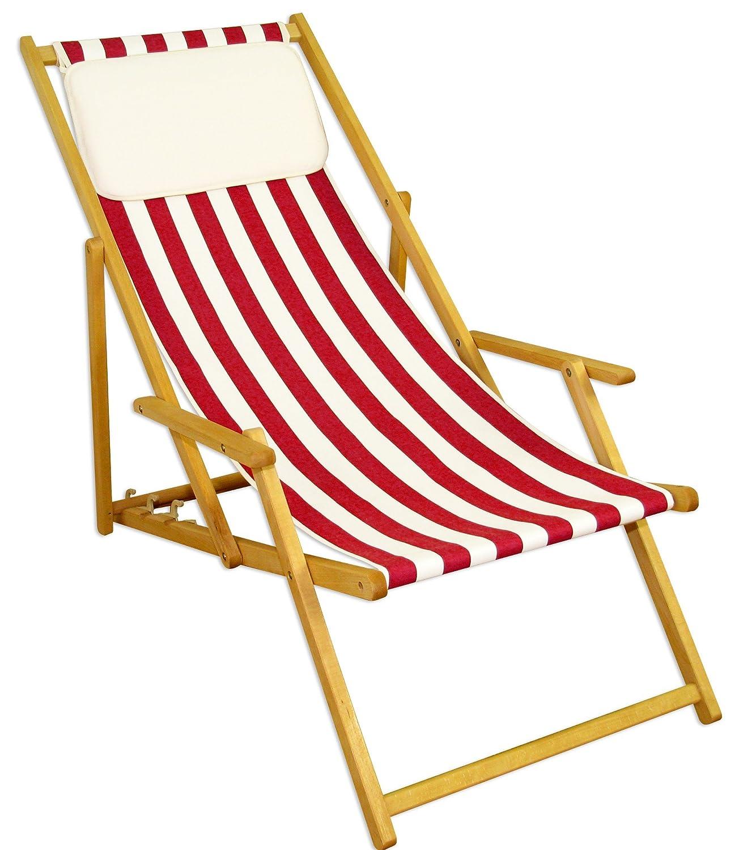 Sonnenliege Gartenliege Deckchair Saunaliege Beige kaufen