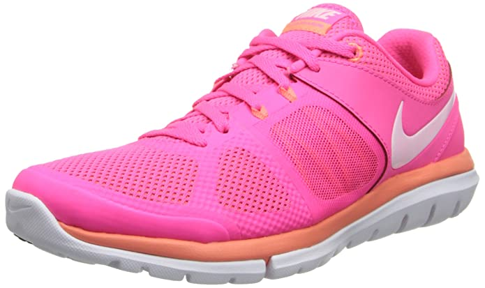 Nike Women's Flex 2014 Rn Hyper Pink/White/Bright Mango Running Shoe 8 Women US