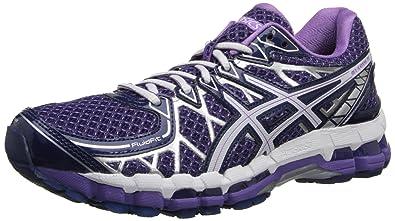 ASICS Women's Gel-Kayano 20 Running Shoe,Purple/White/Lavender,6 M US