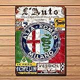 Metal Vintage Alfa Romeo Tin Sign