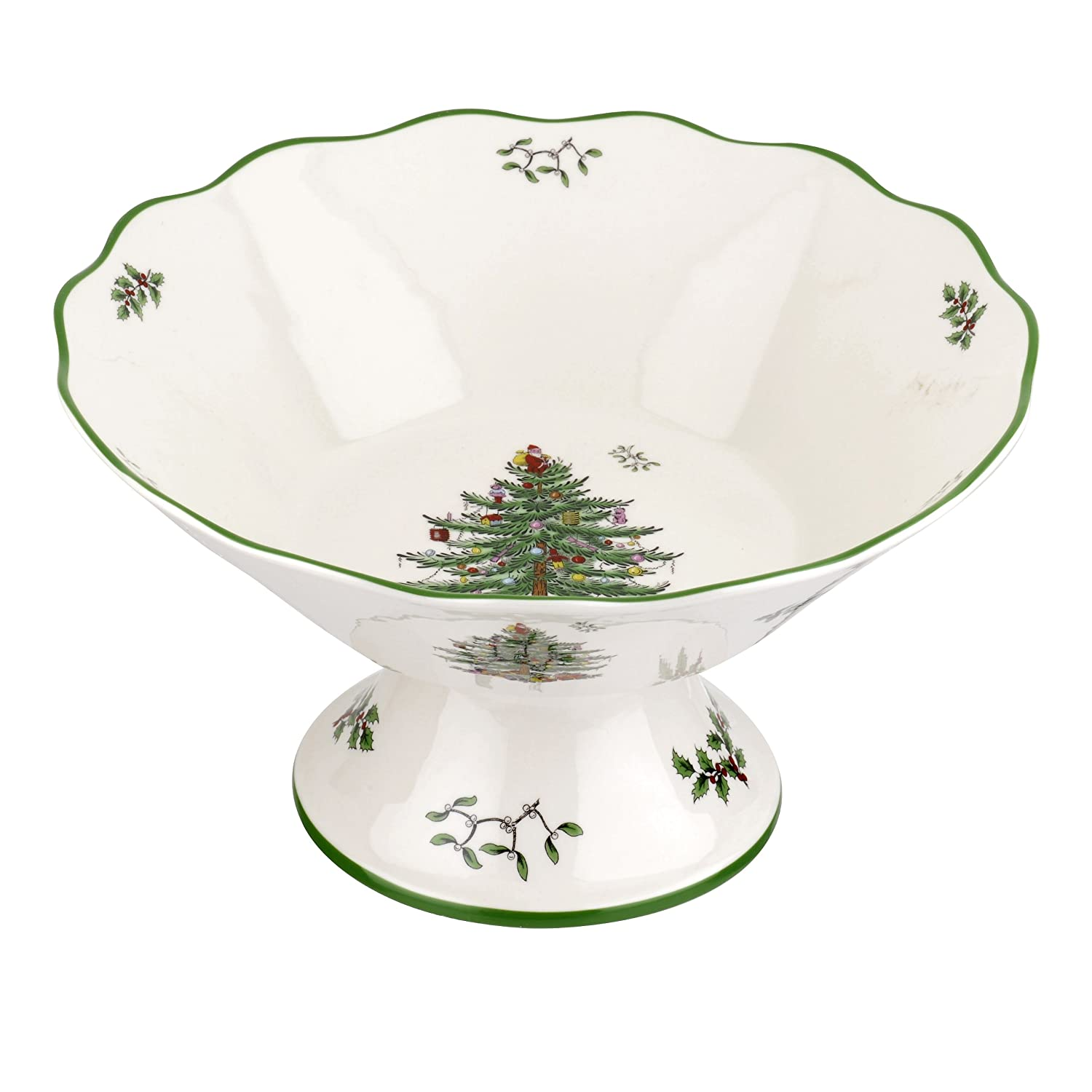 Christmas Tree Medium Footed Bowls